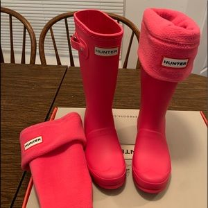 Big kids Hunter rain boots